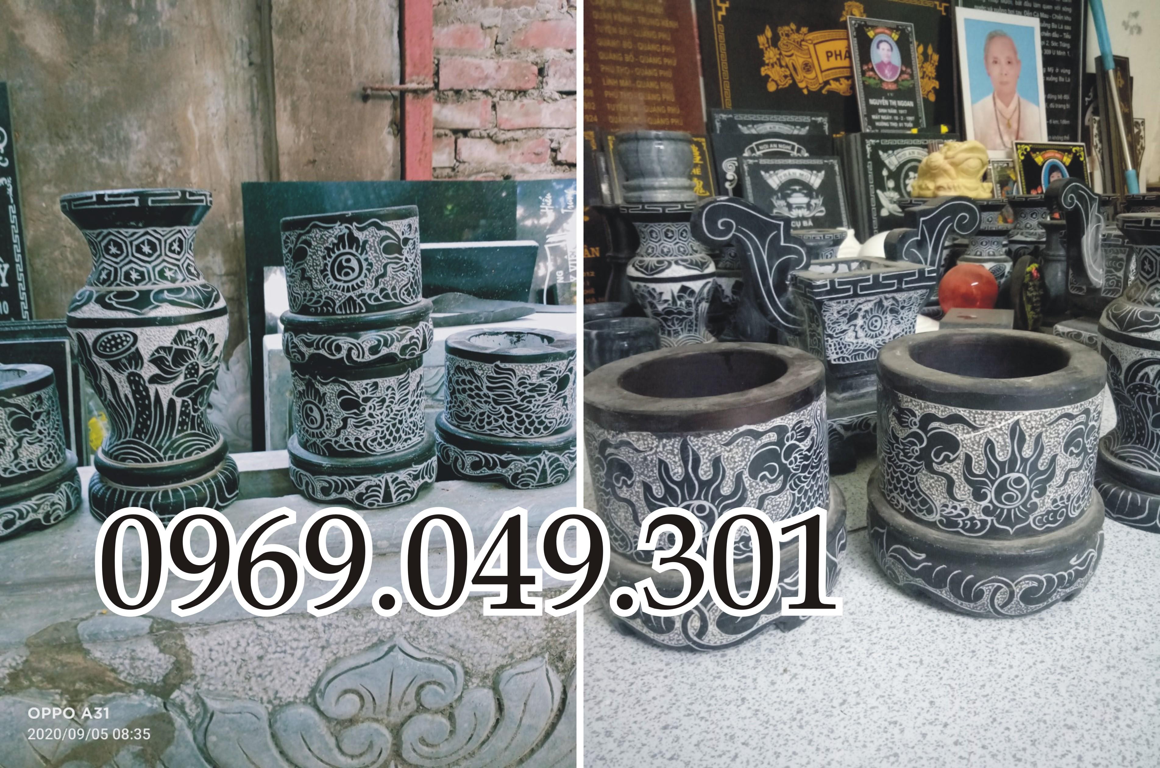 Bát hương đá được đục trạm sản xuất tại xưởng hà nội