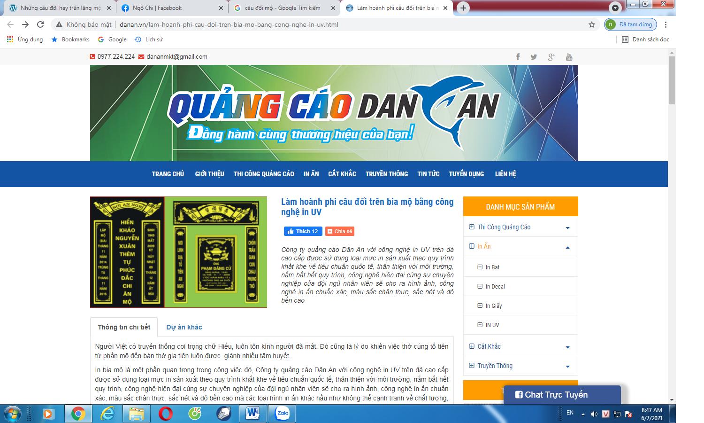 Hình ảnh một web sao chép từ Bình hà nội