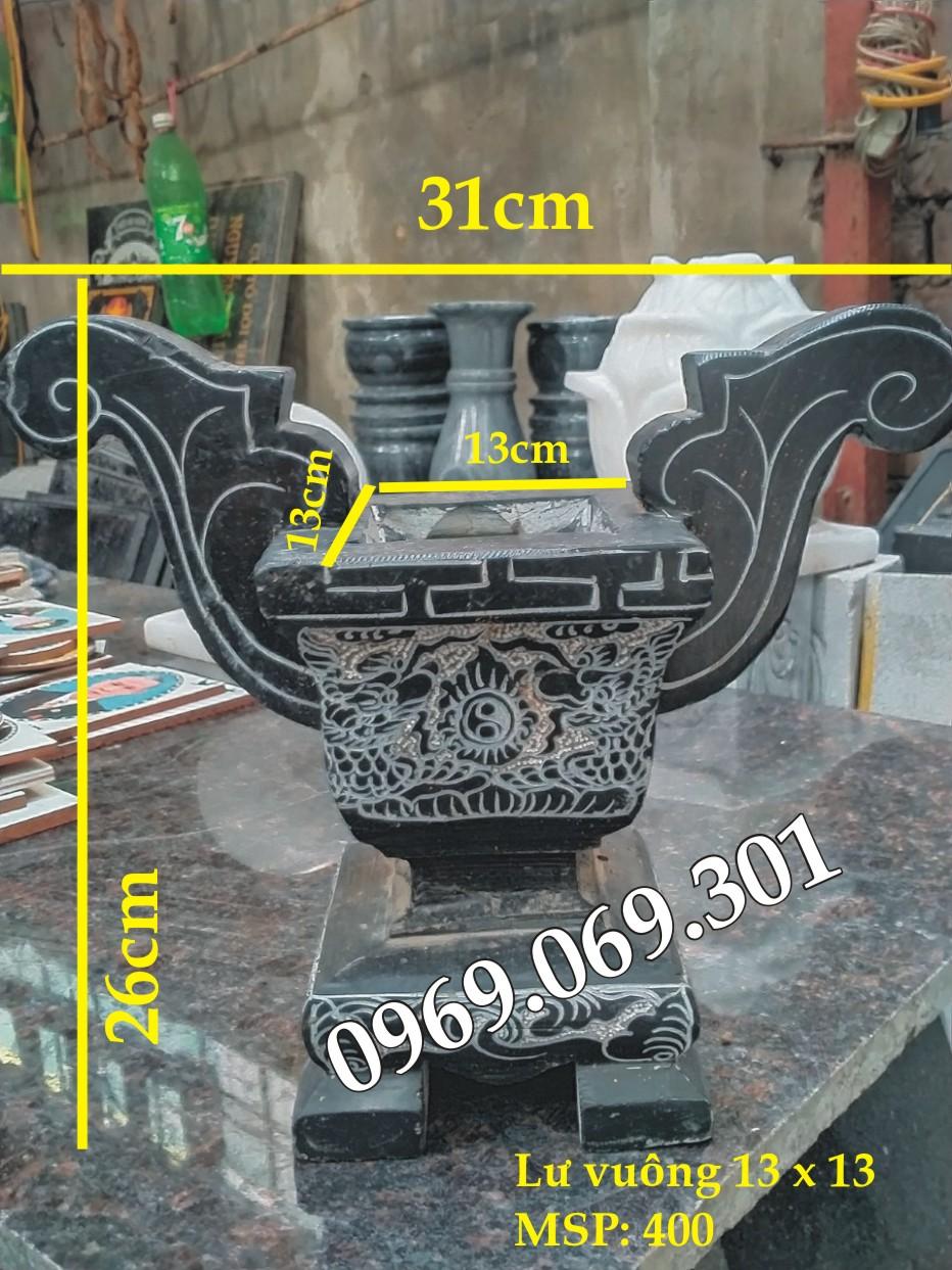Giá lư hương đá và kích thước mang tính chất tương đối tham khảo
