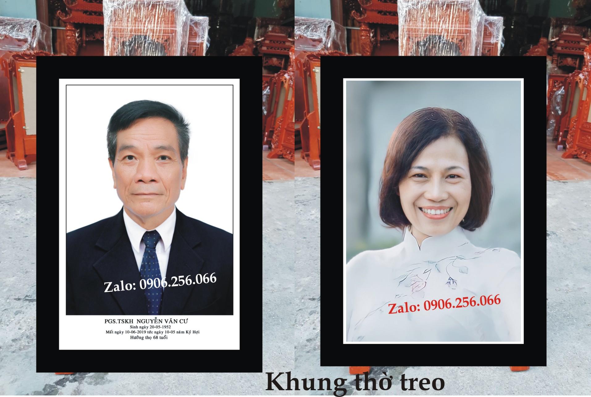 Khung gỗ nhựa lưu giữ hình ảnh những người thân yêu đã mất