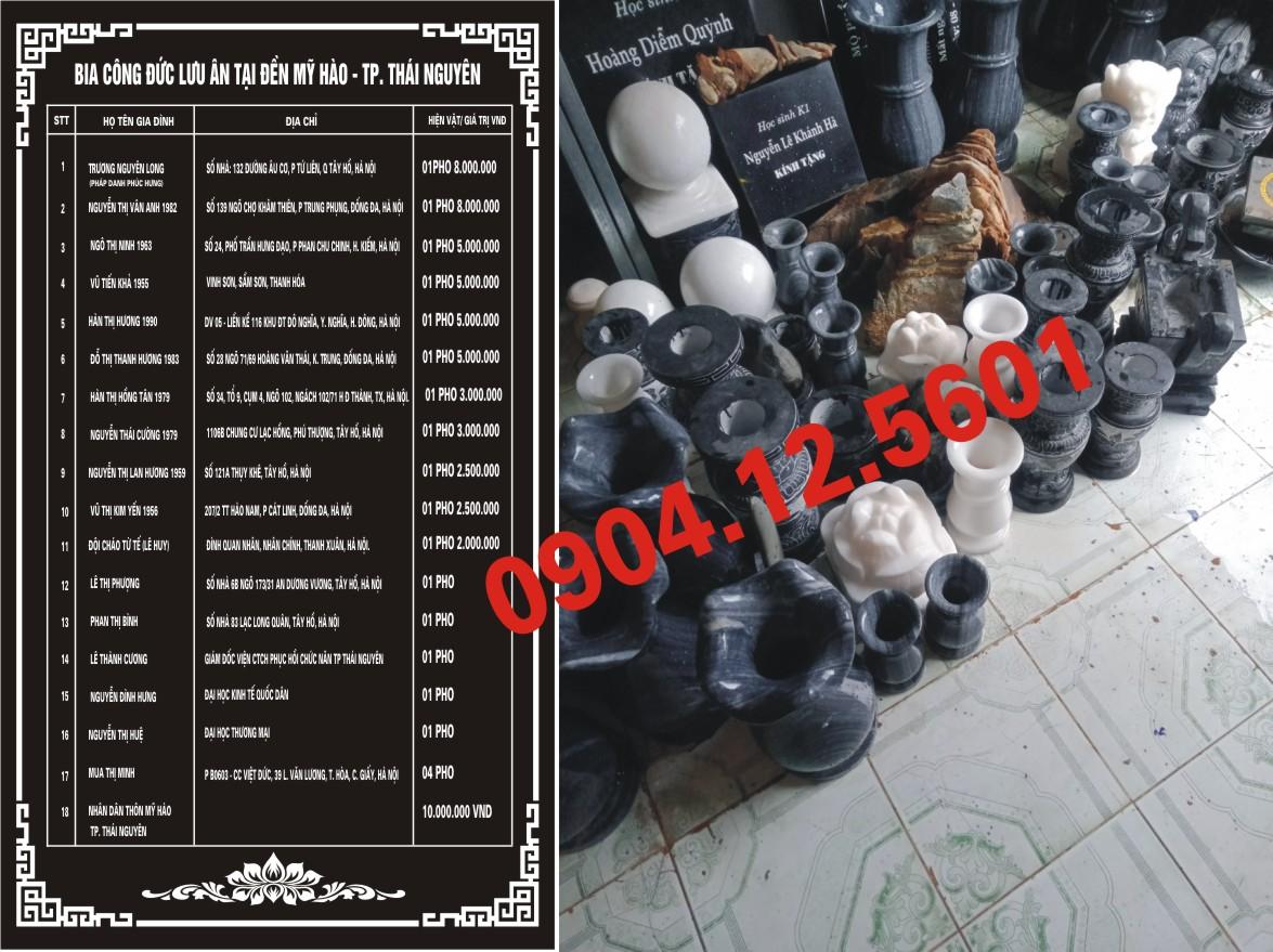 Một số mẫu bia mộ đá đẹp của Bình hà nội